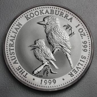 """Silbermünze """"Kookaburra - 1999"""" 1oz"""