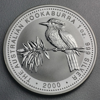 """Silbermünze """"Kookaburra - 2000"""" 1oz"""