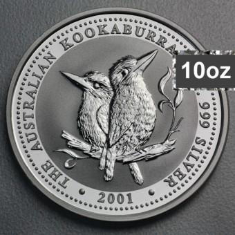 """Silbermünze """"Kookaburra - 2001"""" 10oz"""