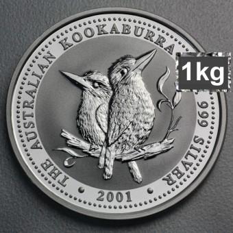 "Silbermünze ""Kookaburra - 2001"" 1kg"