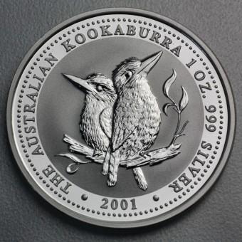 """Silbermünze """"Kookaburra - 2001"""" 1oz"""