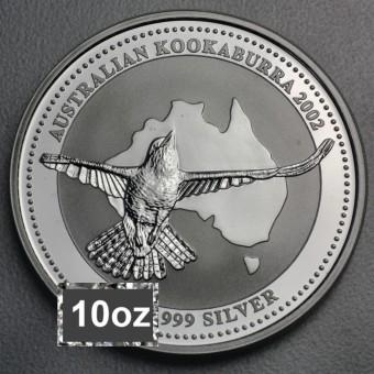 """Silbermünze """"Kookaburra - 2002"""" 10oz"""