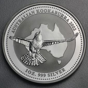 """Silbermünze """"Kookaburra - 2002"""" 1oz"""