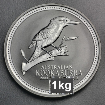 "Silbermünze ""Kookaburra - 2003"" 1kg"
