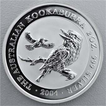 """Silbermünze """"Kookaburra - 2004"""" 2oz"""