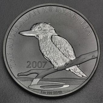 """Silbermünze """"Kookaburra - 2007"""" 1oz"""