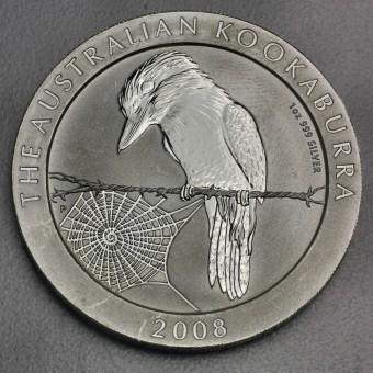 """Silbermünze """"Kookaburra - 2008"""" 1oz"""