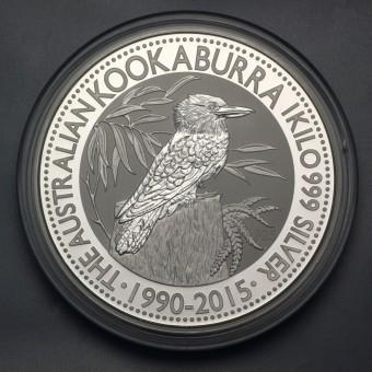 "Silbermünze ""Kookaburra - 2015"" 1kg"
