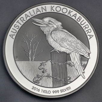 "Silbermünze ""Kookaburra - 2016"" 1kg"