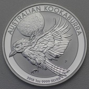 """Silbermünze """"Kookaburra - 2018"""" 1oz"""