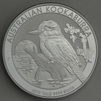 "Silbermünze ""Kookaburra - 2019"" 1kg"