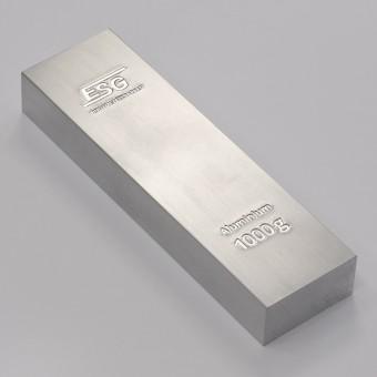 Aluminiumbarren 1kg ESG Buntmetall (995,0 Al)