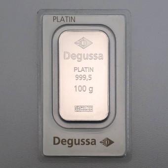 Platinbarren 100g Degussa (Pt)