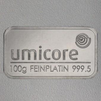 Platinbarren 100g Umicore (Pt)