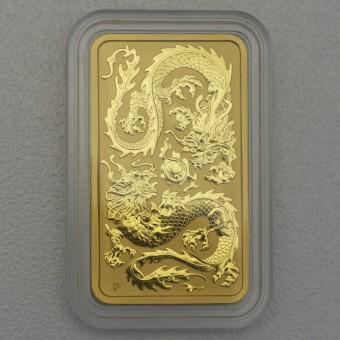 "Gold Münzbarren 1oz ""Rectangular Dragon 2020"""