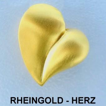 """Goldanhänger """"Herz aus Rheingold"""" (Naturgold)"""