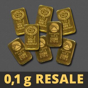 """Goldbarren 0,1g """"Resale"""" (div. Hersteller)"""