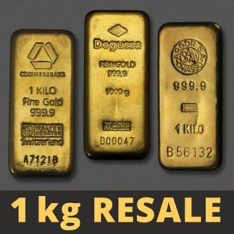 """Goldbarren 1000g """"Resale"""" (div. Hersteller)"""