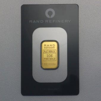 """Goldbarren 10g RAND REFINERY """"Elefanten-Motiv"""""""