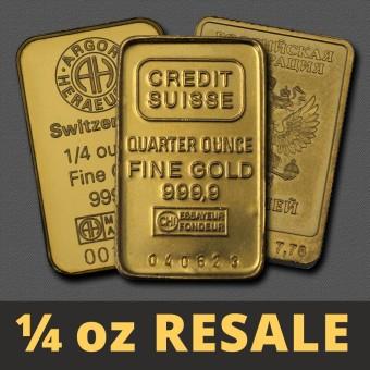 "Goldbarren 1/4oz ""Resale"" (div. Hersteller)"