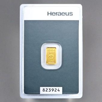"Goldbarren 1g ""Kinebar"" HERAEUS"