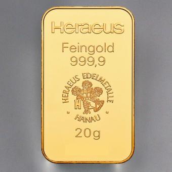 "Goldbarren 20g HERAEUS - ""Resale"""