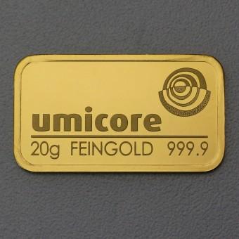 Goldbarren 20g UMICORE,geprägt