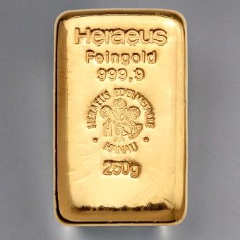 "Goldbarren 250g HERAEUS - ""Resale"""