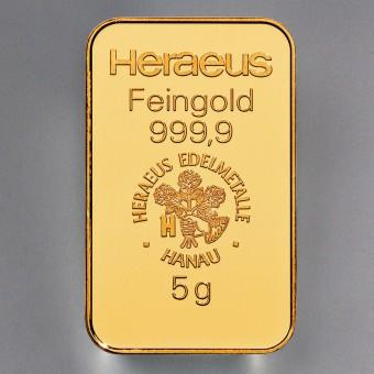 "Goldbarren 5g HERAEUS - ""Resale"""