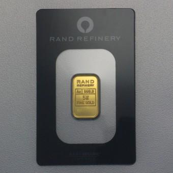 """Goldbarren 5g RAND REFINERY """"Elefanten-Motiv"""""""