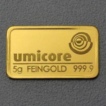 Goldbarren 5g UMICORE,geprägt
