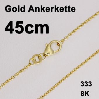 """Goldkette 333er/45 cm """"Anker-Form"""" (8 kt GG)"""