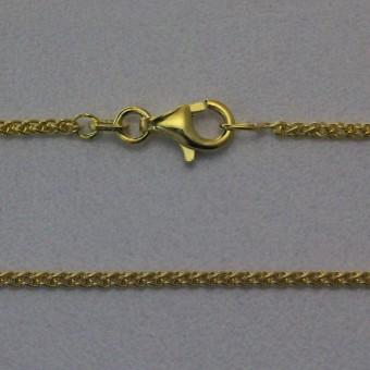 """Goldkette 585er/42 cm """"Zopf-Form"""" (14 kt GG)"""