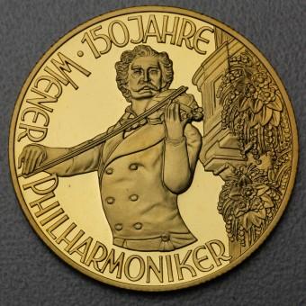 "Goldmünze ""1000 Schilling-1992 Johann Strauß"""