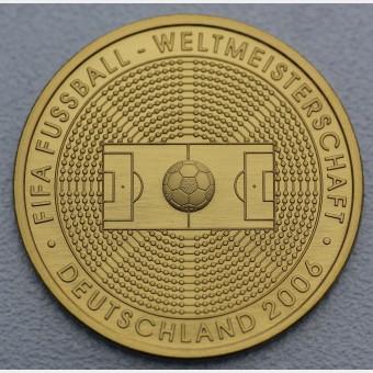 "Goldmünze ""100Euro BRD 2005 Fußball WM"""