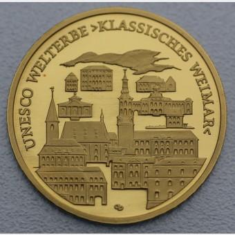 "Goldmünze ""100Euro BRD 2006 Weimar"""