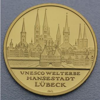 "Goldmünze ""100Euro BRD 2007 Lübeck"""