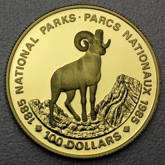 "Goldmünze 100 Dollar ""Nationalparks 1985"" (Kanada)"