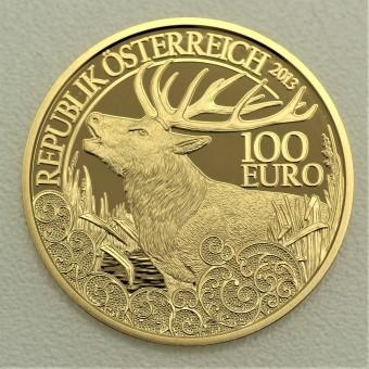 """Goldmünze """"100 Euro-2013 Rothirsch"""" (Österreich)"""