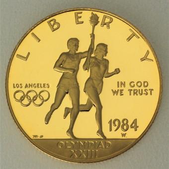 "Goldmünze ""10 Dollars 1984-Olympiade Los Angeles"""