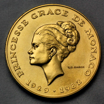 """Goldmünze """"10 Francs Grace Kelly 1982"""" (Monaco)"""