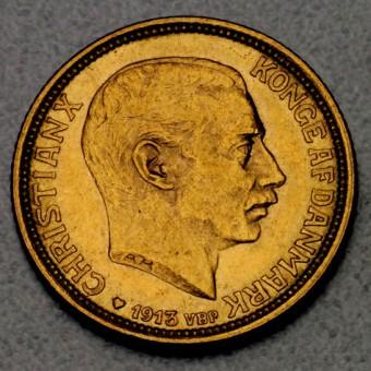 "Goldmünze ""10 Kronen/Christian X."" (Dänemark)"