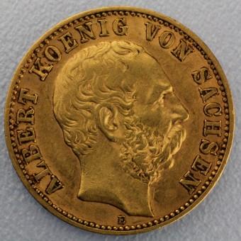 "Goldmünze ""10 Mark Albert"" (Sachsen)"