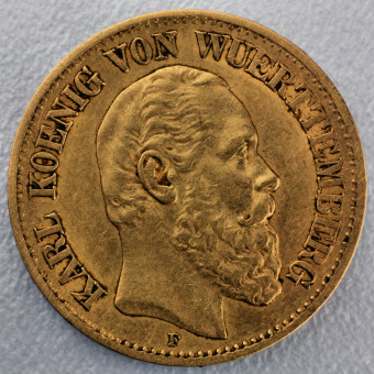 "Goldmünze ""10 Mark Karl"" (Württemberg)"