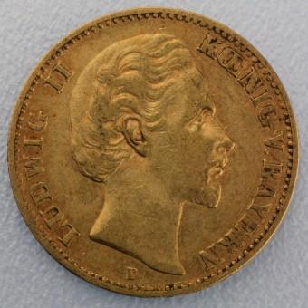 "Goldmünze ""10 Mark Ludwig II."" (Bayern)"