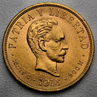"""Goldmünze """"10 Pesos - José Marti 1902-1916"""" (Cuba)"""