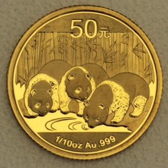 """Goldmünze 1/10oz """"Panda - 2013"""" (China)"""