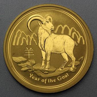 "Goldmünze 1/10oz ""Ziege 2015"" Lunar II"