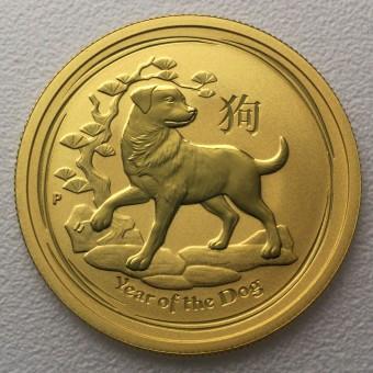 "Goldmünze 1/20 oz ""Hund 2018"" Lunar II"
