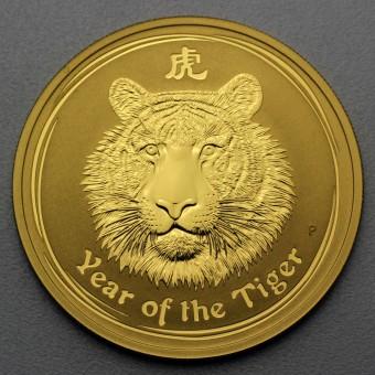 "Goldmünze 1/20 oz ""Tiger 2010"" Lunar II"